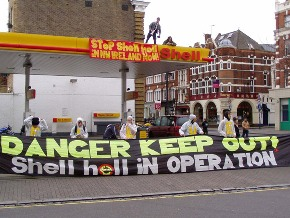 Petrol station blockade
